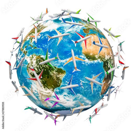 Obraz na plátně  Global Air Travel concept