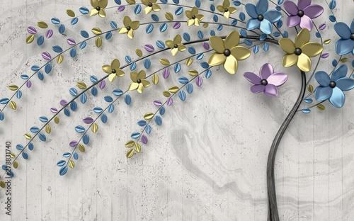 3d-malowidlo-scienne-barwiacy-kwitnie-drzewa-na-rocznika-tle
