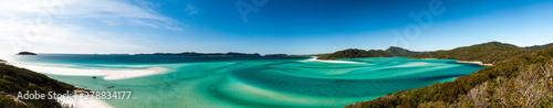 Hill Inlet from lookout at Tongue Point on Whitsunday Island Wallpaper Mural