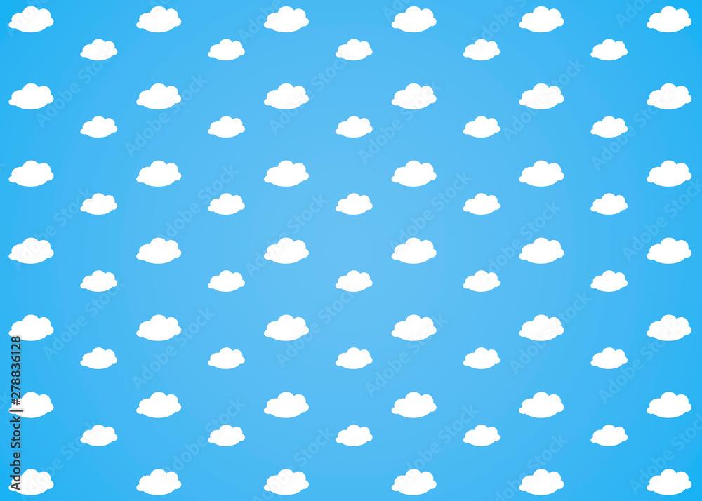 Fototapety, obrazy: white clouds on blue sky background