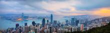Hong Kong Central Skyline And Victoria Harbor, Hong Kong, China
