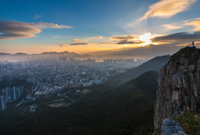 Lion Rock Country Park And Kowloon, Hong Kong, China