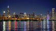 Awesome time lapse shot of Chicago skyline - travel photography