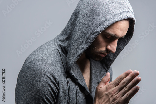 Fototapeta Humble praying man