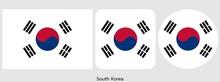 South Korea Flag, Vector Illus...