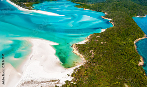 Fotomural Hill Inlet from a helicopter over Whitsunday Island - swirling white sands