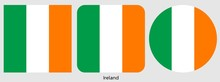 Ireland Flag, Vector Illustrat...