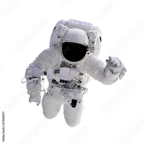 Astronaut floating in space isolated on white background Фотошпалери