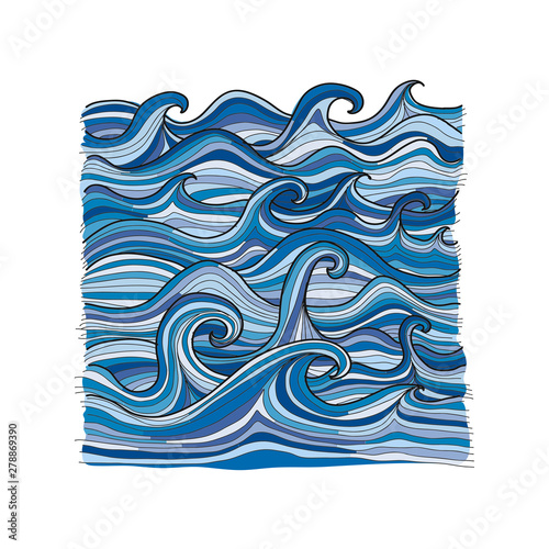 Fotomurales - Abstract sea background for your design