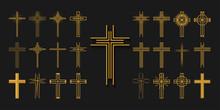 Icons Set. Cross Of Christian ...