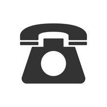 Old Telephone Vector Icon. Fil...
