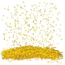 Gold Money Rain. Golden Vector...