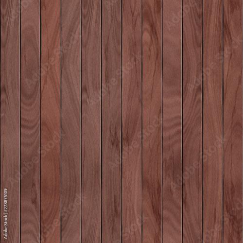 Fototapeta Seamless wood texture. Lining boards wall. Wooden background pattern. Showing growth rings obraz na płótnie