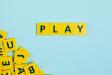 Play Word On Scrabble Tiles