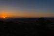 Wonderful Silhouette Sunset over the Sicilian Hills, Mazzarino, Caltanissetta, Sicily, Italy, Europe