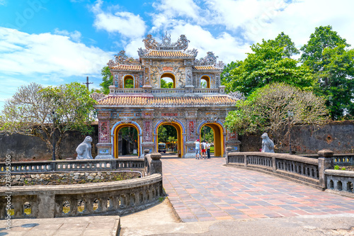 Photo  Colorful imperial city gate