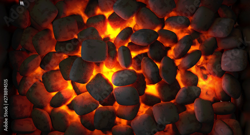Poster Firewood texture Charcoal Fire Burning