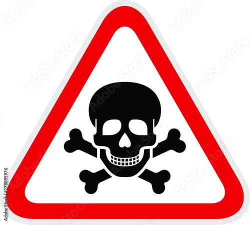 Canvas-taulu Triangular red Warning Hazard Symbol, vector illustration