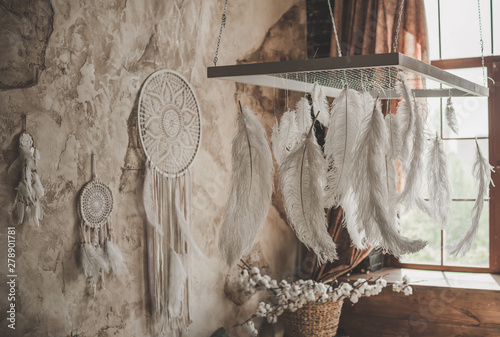 Home interior detail in Boho style
