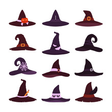 Witch Hats Collection Isolated...