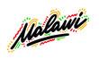 Malawi Word Text Creative Handwritten Font Design Vector Illustration.