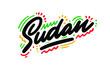 Sudan Word Text with Creative Handwritten Font Design Vector Illustration. - Vector