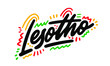 Lesotho country text suitable for a logo icon or typography design