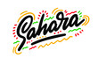 Sahara country text suitable for a logo icon or typography design