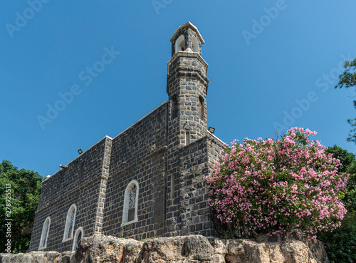 Tabgha, Israel - May 18 2019 : The Church of the Primacy of Saint Peter, Francis Wallpaper Mural