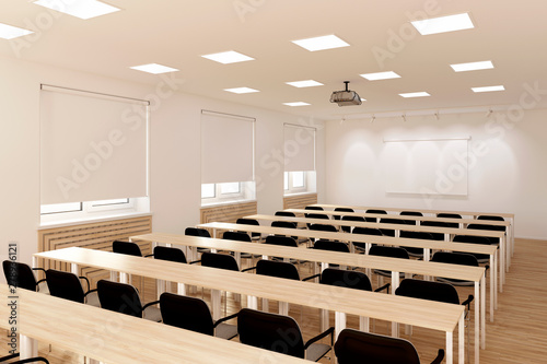 Foto  3d illustration. The conference hall.