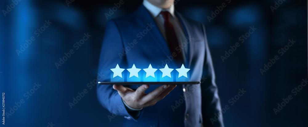 Fototapeta Customer Satisfaction Service Business Technology Internet Concept