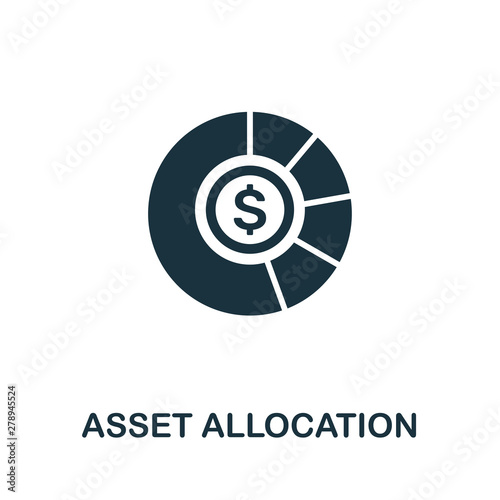 Photo Asset Allocation vector icon symbol