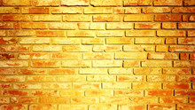 Vintage Brick Wall Texture Background Yellow Color