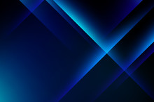 Abstract Blue Light Crystal On...