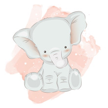 Adorable Elephant Illustration...