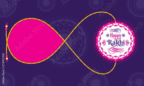 Платно Happy raksha bandhan festival concept banner design