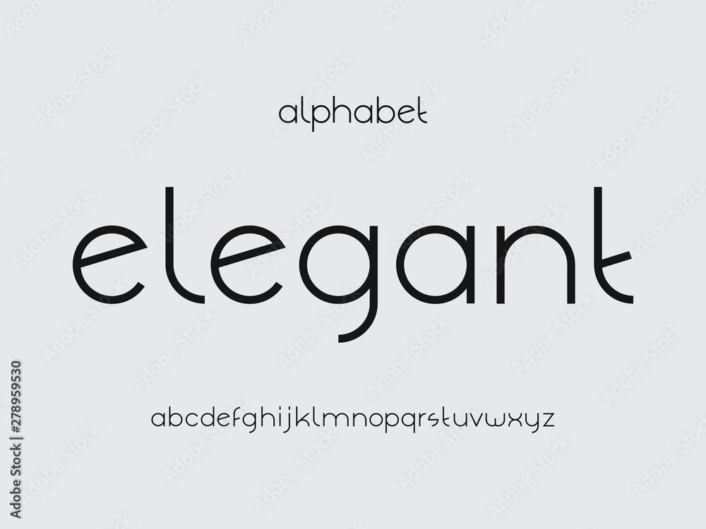 Fototapety, obrazy: Elegant font. Vector alphabet