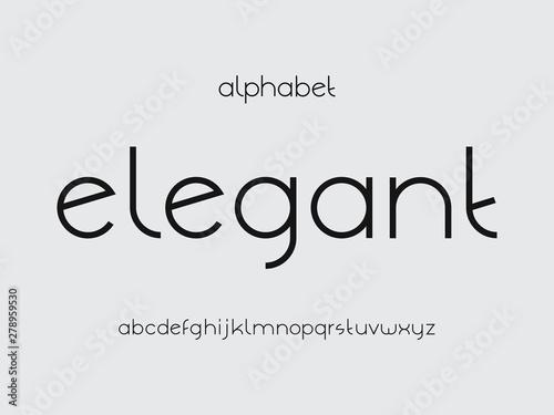 Fényképezés  Elegant font. Vector alphabet