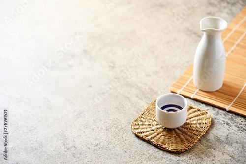japanese sake oriental drink style on the table Canvas-taulu