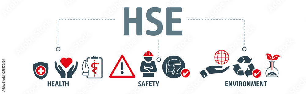 Fototapety, obrazy: HSE - Health Safety Environment Banner