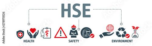 Fototapeta HSE - Health Safety Environment Banner