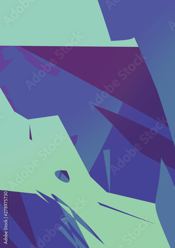 Poster Bleu nuit Colorful abstract background. geometric shapes. Poster.