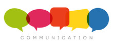 Speech Bubbles, Communication Concept, Vector Illustration
