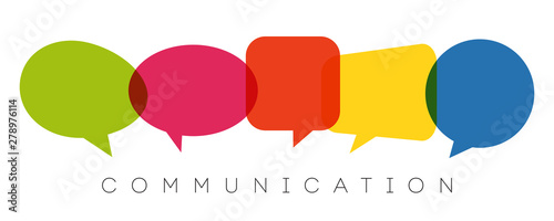 speech bubbles, communication concept, vector illustration Fototapet