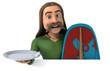 Leinwanddruck Bild - Fun Gaul - 3D Illustration