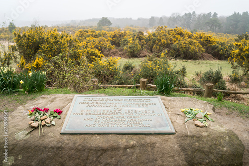 Photo  Memorial plaque to A A Milne & E H Shepard