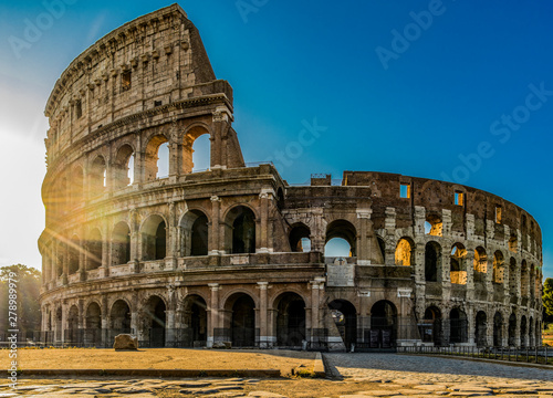 Fotografie, Tablou  Famous sightseeing in Rome Colosseum or Coliseum, Italy