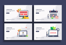 Set Of Modern Flat Design Temp...