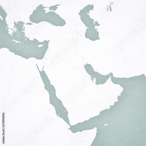 Blank Map of Middle East - Buy this stock illustration and ...