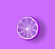 Leinwanddruck Bild - Lemon  Fluorescent colors.